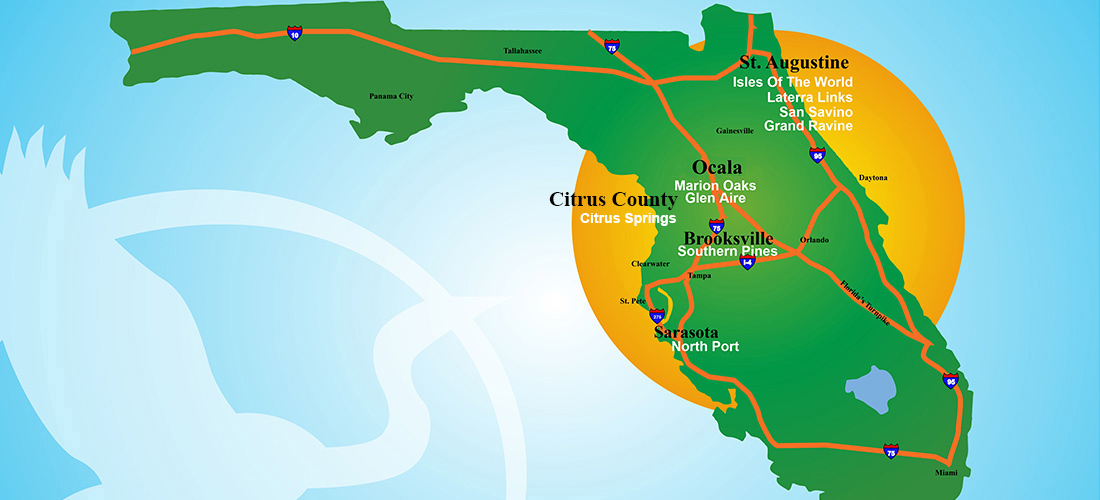 Florida Map With Deltona Locations